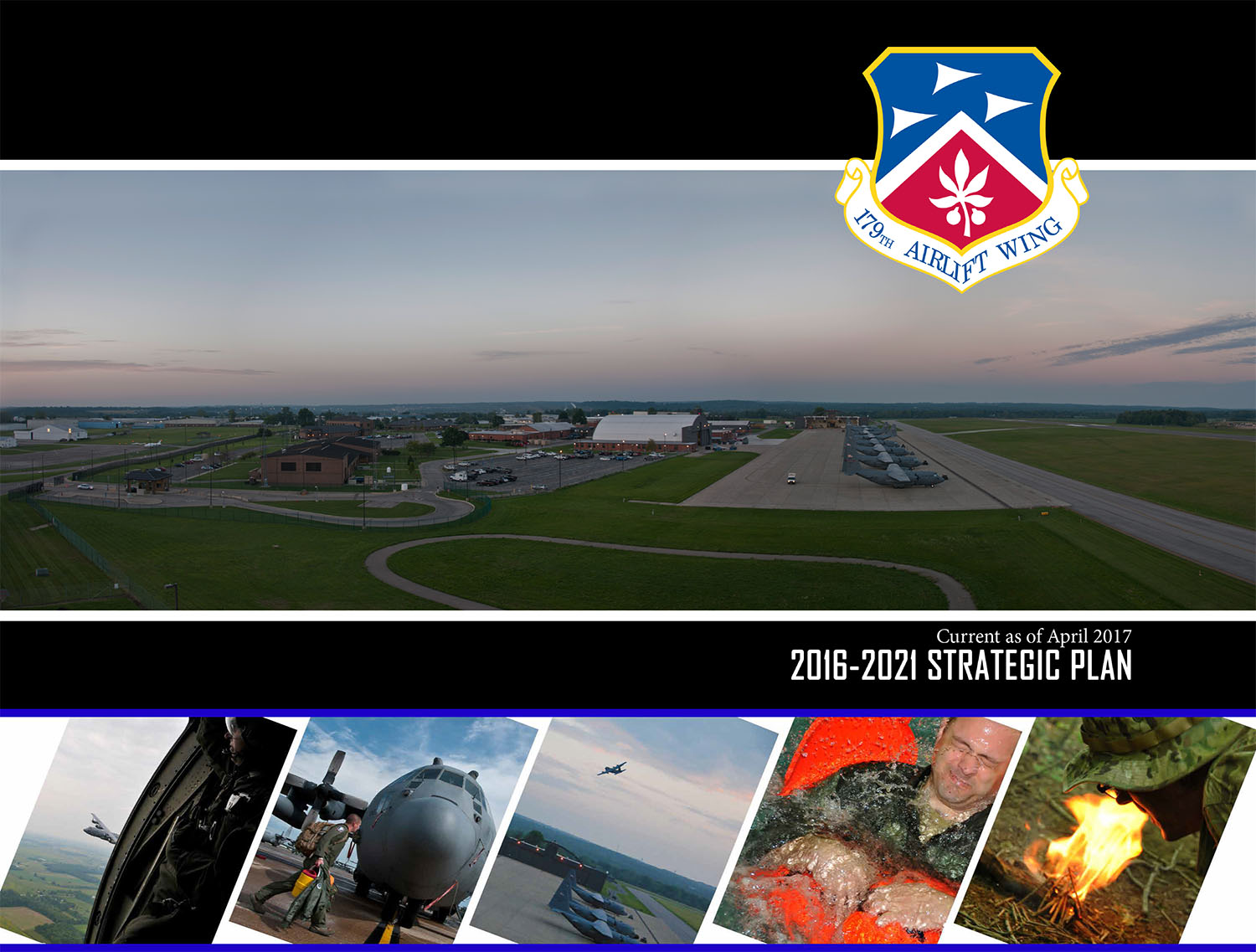 Photo graphic of the cover page of the 179th Airlift Wing Strategic Plan