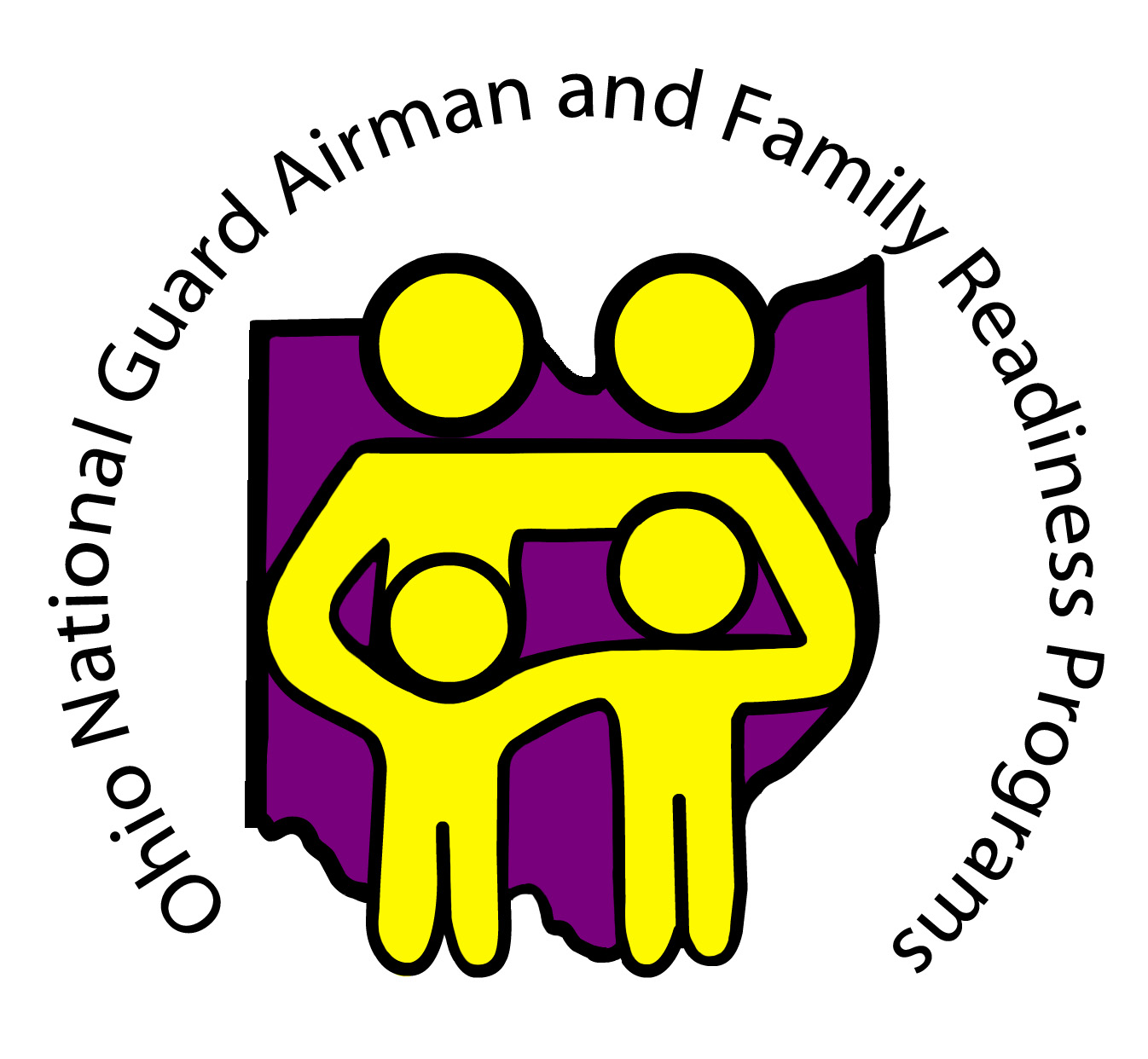 Graphic of Ohio National Guard Airman and Family Readiness Program