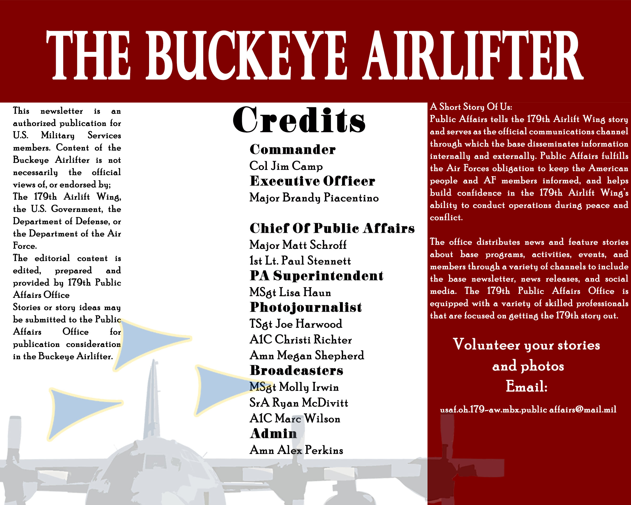 Buckeye Airlifter Credits